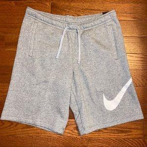 Men's Nike Grey Fleece Shorts